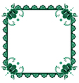 frame with stylized flowers vector image