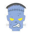 frankenstein flat icon halloween and scary vector image vector image