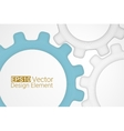 gears wireframe vector image vector image