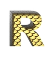 golden cutted figure r Paste to any background vector image vector image
