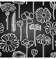 graphic seamless pattern wild meadow flowers vector image vector image