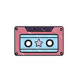 grated old cassette retro object stereo vector image