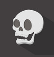 head skull with long shadow vector image