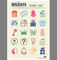 Holidays and celebration web icons set vector image