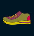 icon in flat design sports shoes vector image