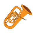 isolated tuba instrument vector image