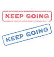 keep going textile stamps vector image vector image