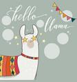 lama in cartoon style vector image