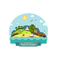 Landscape with Beach Hills Church Mill Fortress vector image vector image