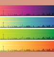 las vegas multiple color gradient skyline banner vector image