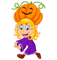 little girl with Halloween costume vector image
