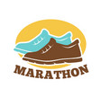 marathon competition promotional emblem isolated vector image vector image