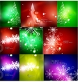 Mega set of shiny Christmas cards vector image