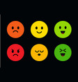 multi-colored round cute faces with different vector image