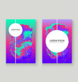 neon gemstone artistic cover design fluid vector image vector image
