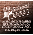 Old school Retro Alphabet vector image