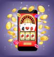 online casino poster banner design template vector image vector image