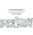 Open Up New Horizons - line design website banner vector image vector image