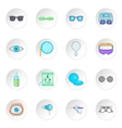 Ophthalmologist icons set vector image vector image