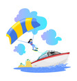 parasailing water extreme sports backgrounds vector image vector image