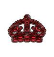 queen crown symbol vector image vector image