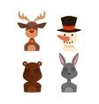 Santa Claus animals vector image