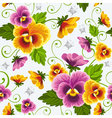 seamless background with pansy vector image