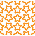 seamless orange white pattern with stars vector image