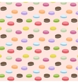 Seamless pattern with colorful macaroons vector image vector image
