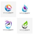set of beauty care logo design element vector image vector image