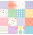 set of seamless dots pattern in pastel colors vector image vector image