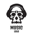 Sound studio logo Music Skull logo vector image vector image