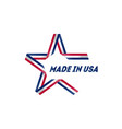 star with inscription - made in the usa badge vector image vector image