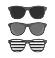 striped perforation sunglasses vector image