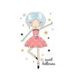 sweet ballerina girl for print