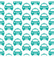 taxi car pattern background vector image vector image