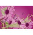 unusual purple flowers vector image vector image
