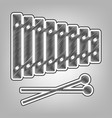 xylophone sign pencil sketch imitation vector image vector image