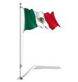 Flag Pole Mexico vector image