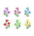 Tulips flowers set vector image