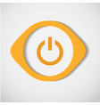 yellow button on a white background vector image