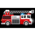 3D of a Red Fire and Rescue truck with flashing vector image vector image