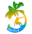 abstract logo of surfing vector image vector image