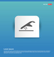 airplane accident icon - blue sticker button