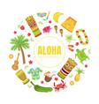 aloha tropical paradise banner template hawaiian vector image vector image