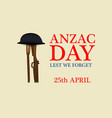 anzac day background vector image