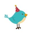 bird hat fun cute isolated vector image