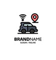 car location map technology business logo vector image
