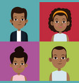 cartoon community people picture social vector image vector image