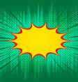 comic burst light template vector image